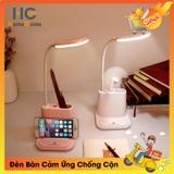 Đèn Bàn Led Chức Năng Bảo Vệ Mắt Đa  Sạc USB + Đèn Ngủ Cảm Ứng Thông Minh + Quạt USB - HOMEGUIDE