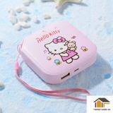[TẶNG TAI PHONE]Mua Sạc dự phòng Hello Kitty trọng lượng nhẹ, dáng xinh, pin trâu 10000mAh