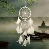 Dreamcatcher Lưới Bắt Giấc Mơ Lông Tuyết Kèm Hộp Quà Tặng