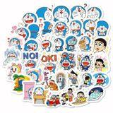 [Bộ 40 hình] Sticker dán trang trí chống thấm nước chủ đề DORAEMON