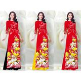 Áo dài in họa tiết hoa mai Nhật ( KHÔNG KÈM QUẦN)– MS0267AD