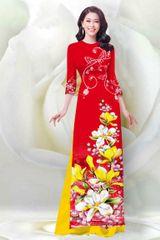 Áo dài in họa tiết hoa mai Nhật – MS0267AD