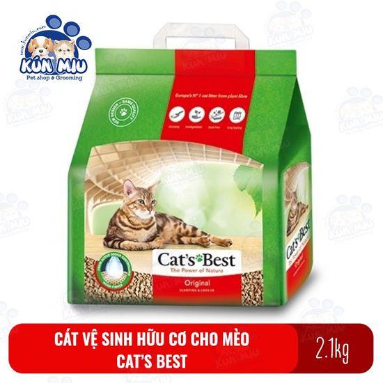 Cát vệ sinh hữu cơ cho mèo Cat's Best Original 5L (2.1kg)