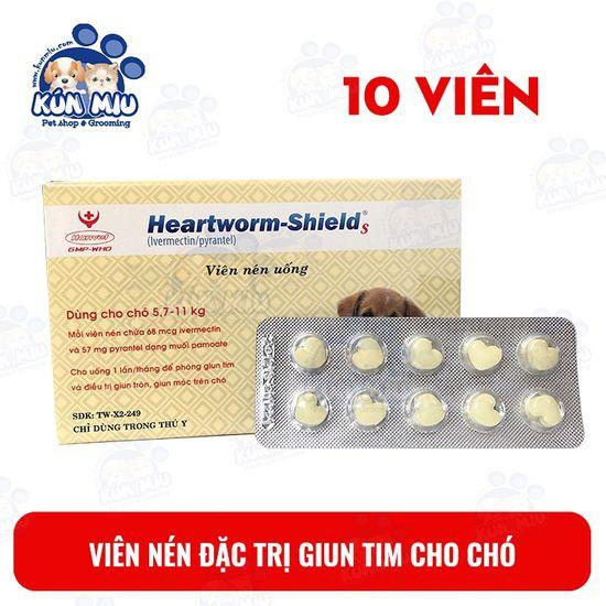 1 vỉ 10 viên nén Heartworm-Shield S diệt giun tim cho chó